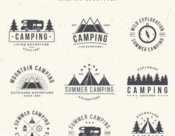 Hand Drawn Camping Logos