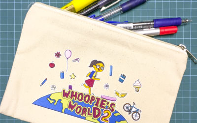 WHOOPIE'S WORLD 2 CANVAS ZIP POUCH