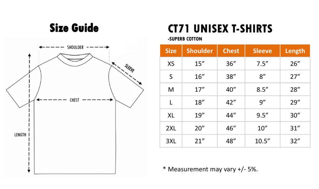 CT71 cotton roundneck t-shirt
