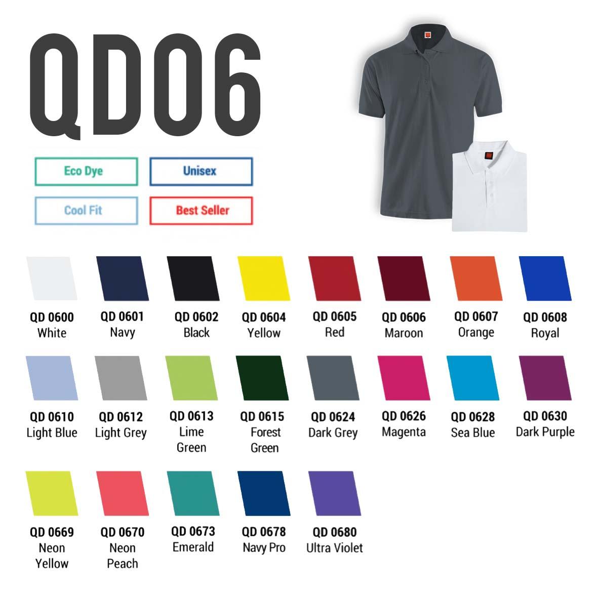 QD06 drifit polo t-shirt
