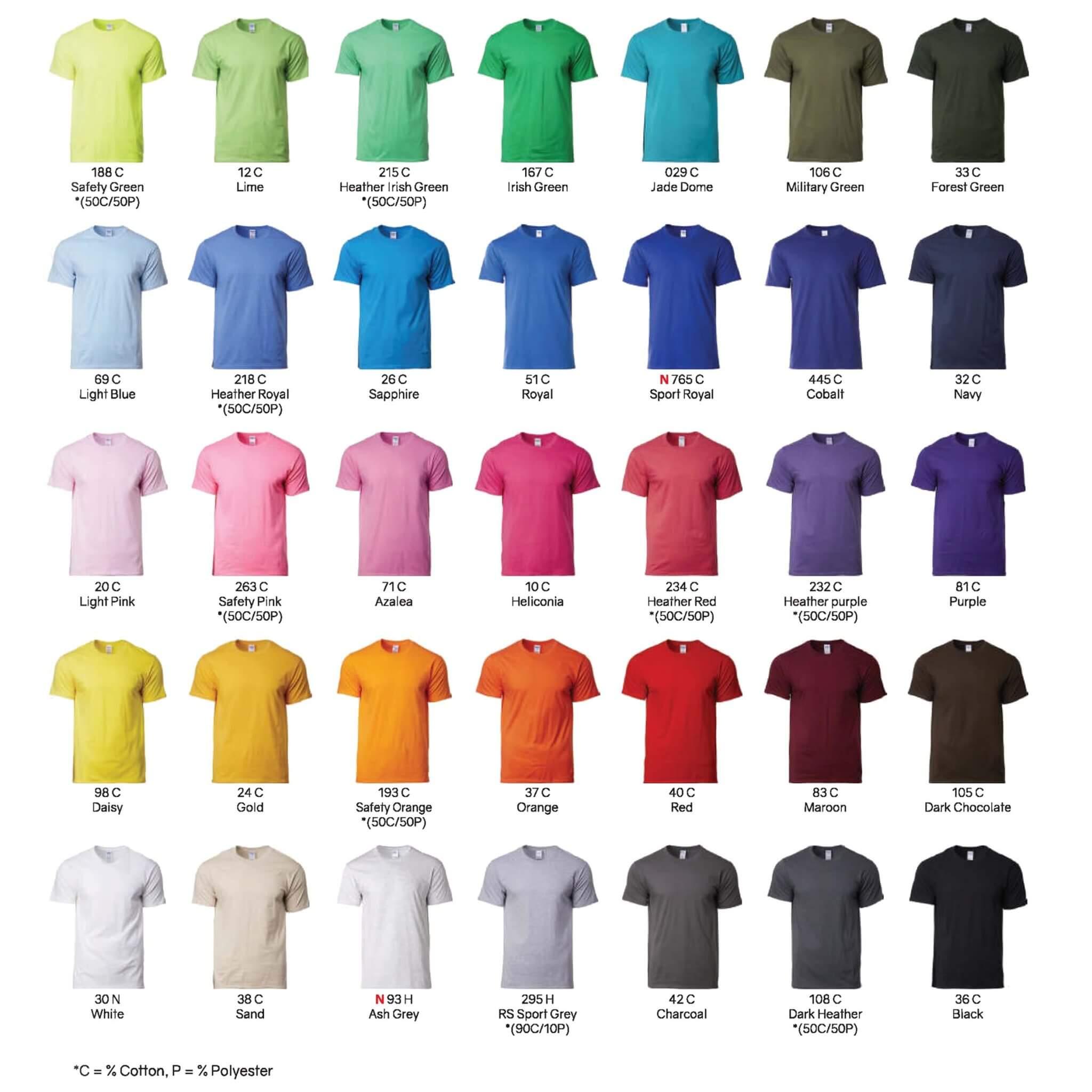Gildan 76000 cotton roundneck t-shirt