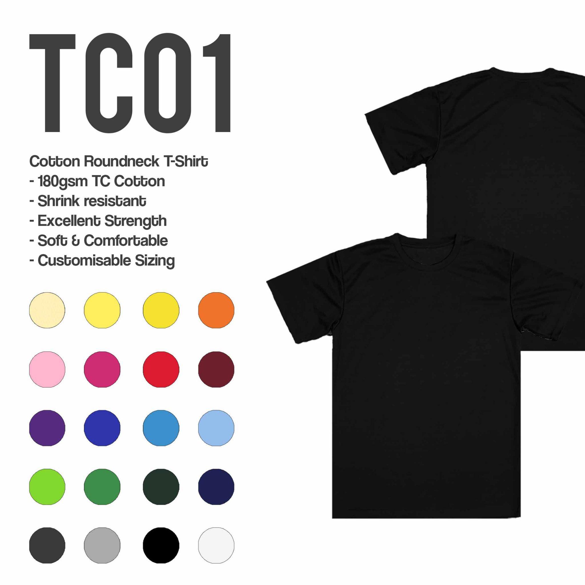 TC01 cotton roundneck t-shirt