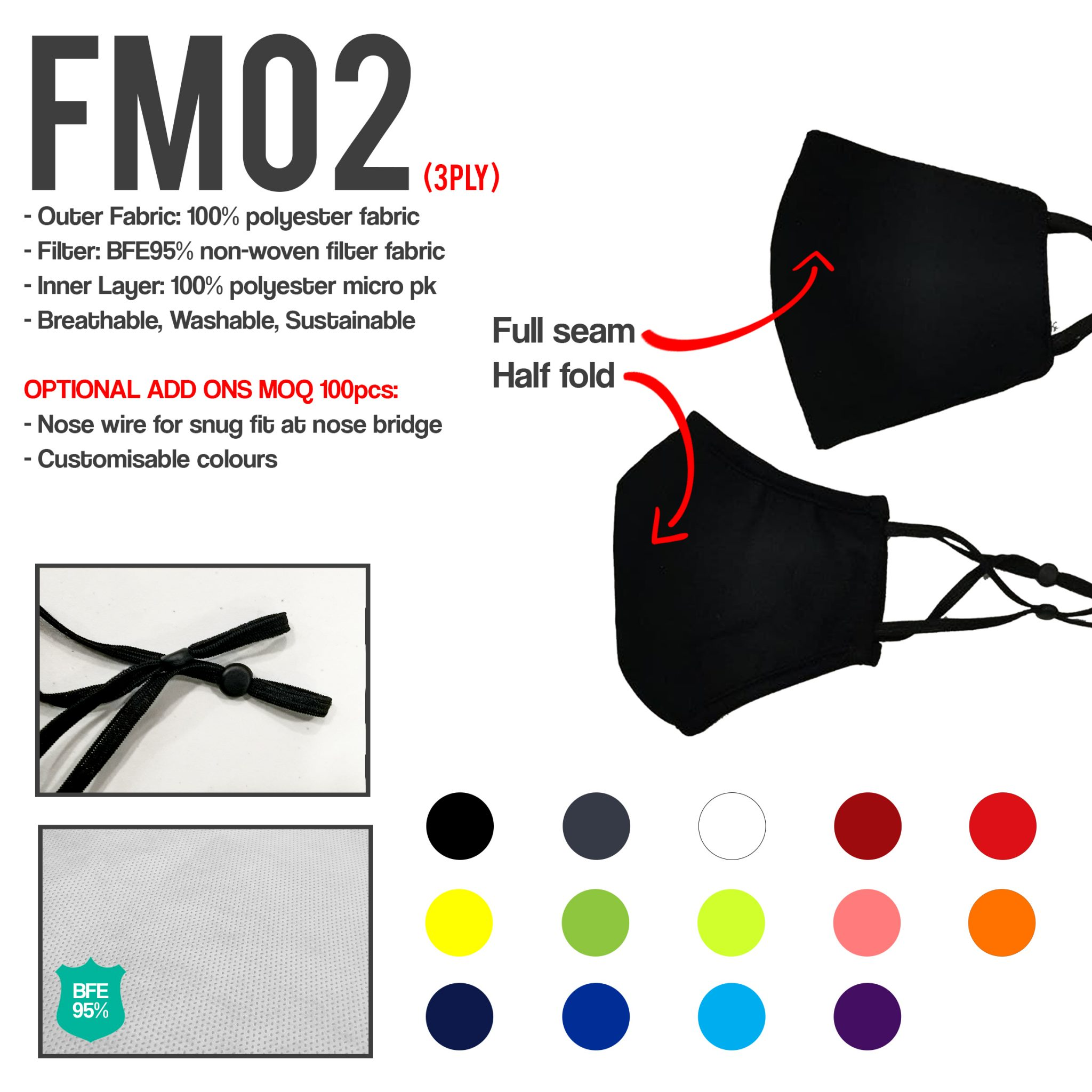 FM02new customised face mask printing